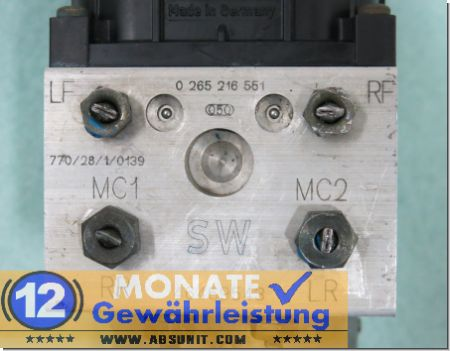 ABS Modul 46469543 SW 0-265-216-551 Bosch 0273004277 Fiat Palio Weekend