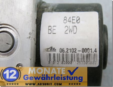 ABS Unit 84E0-BE-2WD 06210200014 Ate 06.2109-0131.3 Opel Agila Suzuki Wagon
