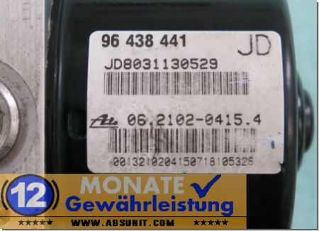 Modulo ABS 96438441-JD 062102-04154 Ate 062109-08253 Chevrolet Lacetti
