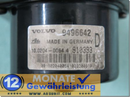 Modulo ABS 9496642 9496643 100204-00644 Ate 100947-04043 Volvo S80
