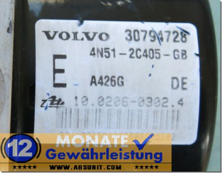 Pompa ABS 30794728 4N512C405GB 10020603024 30794730AA 10096004293 Volvo V50