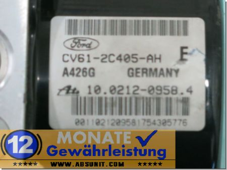 Pompa ABS CV61-2C405-AH 10021209584 Ate 10.0961-0169.3 Ford Kuga