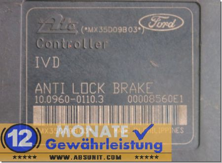 Bloc ABS 2S61-2C405-AF 10020601984 Ate 10.0960-0110.3 Ford Fiesta