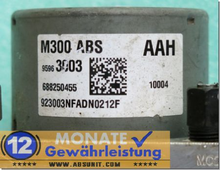ABS Block 95963003 5WY7D01G 688250455 Chevrolet Spark M300