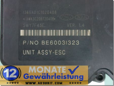 ABS Block 58920-3U310 BH6013I301 BE6003I323 Kia Sportage