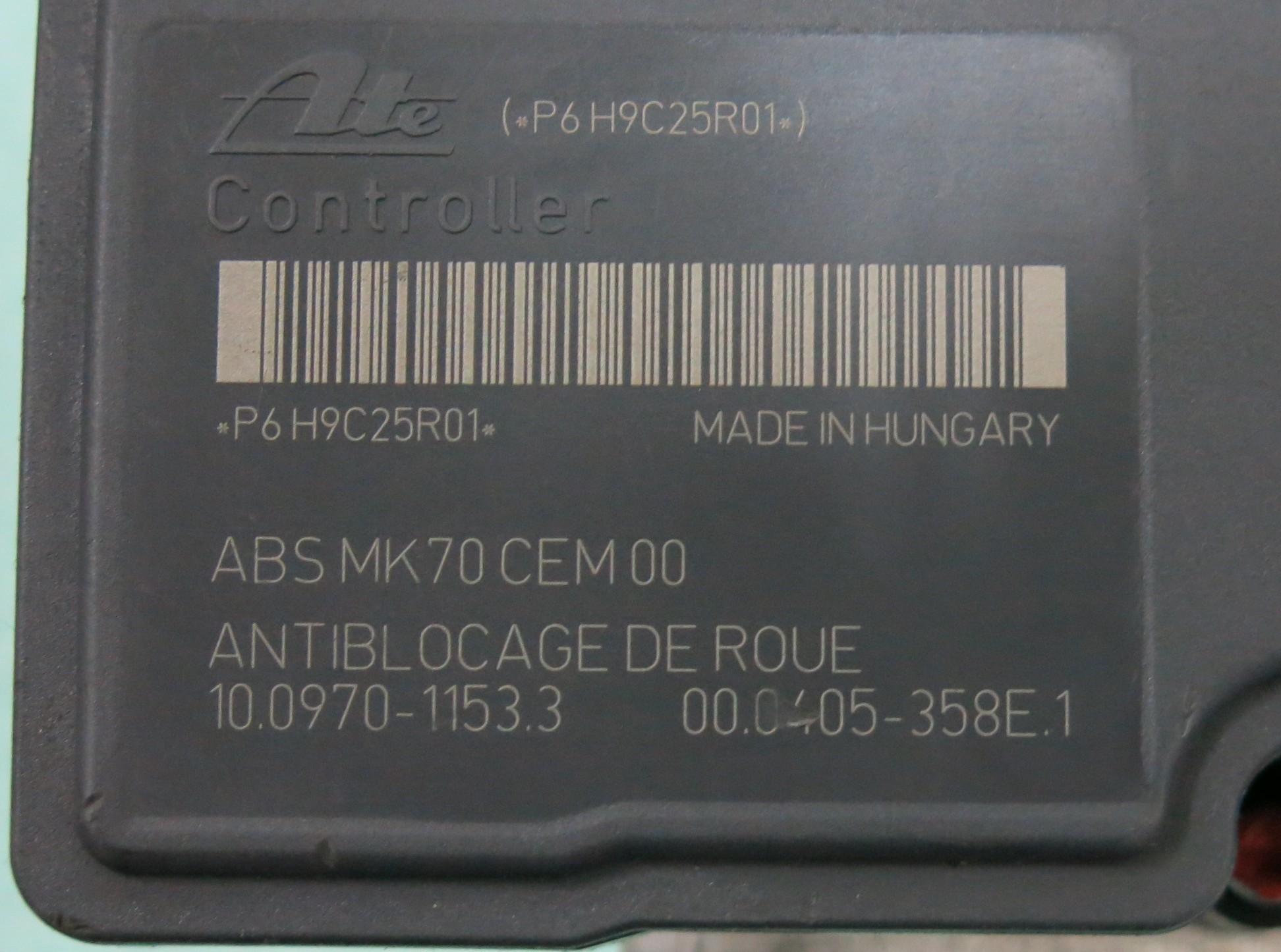 Peugeot 207 Citroen C2 C3 ABS Pump 9665344180 10.0207-0142.4 10.0970-1153.3