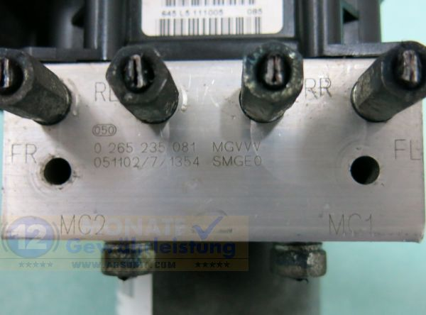 ABS Block 57110SMGE030M1 0-265-235-081 Bosch 0265950534 Honda Civic