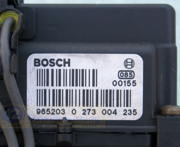 ABS Block 000-4765-V005 0265215487 Bosch 0-273-004-235 Smart City-Coupe 450