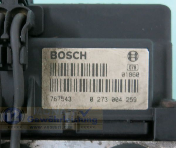 Modulo ABS 98VB2C219AA 0265216545 Bosch 0273004259 Ford Transit