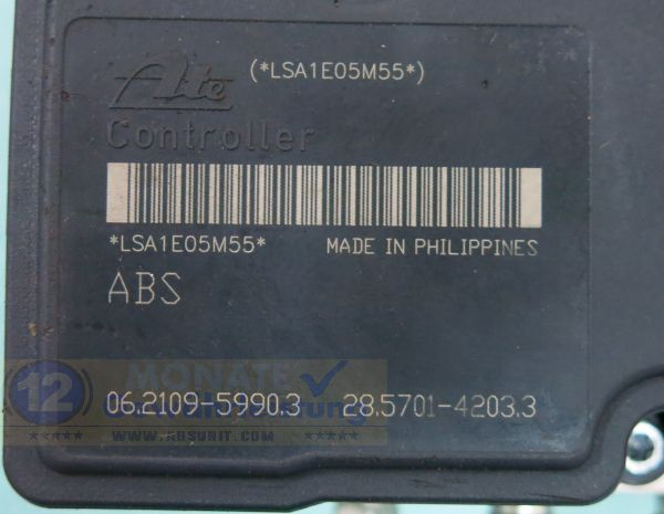 ABS Block 85L0BE2WD 06.2102-1825.4 Ate 06210959903 Suzuki Splash Opel Agila