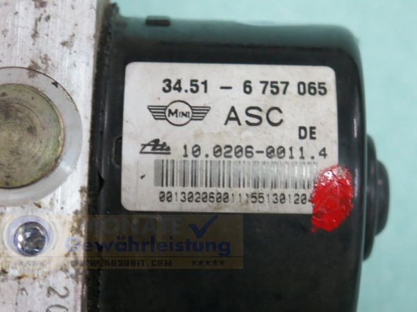 ABS Pump 34516757065 6-756-066 10020600114 10.0960-0861.3 Mini One Cooper