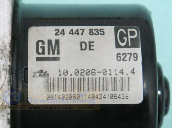 Pompa ABS 24447835 GP 10.0206-0114.4 Ate 10096005253 Opel Astra Zafira